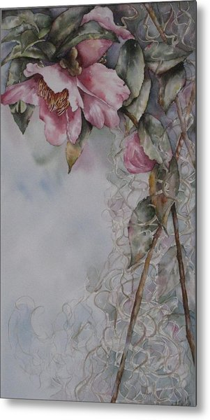Spanish Camellias Metal Print