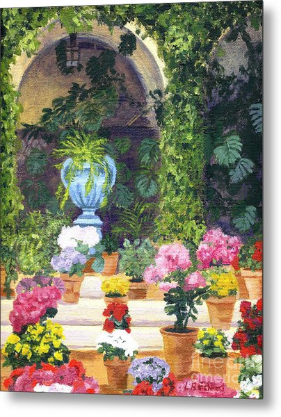Spanish Courtyard Metal Print
