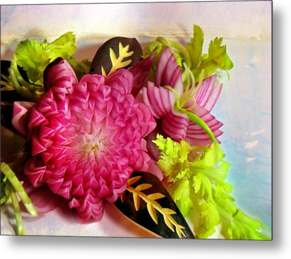 Spanish Flowers Metal Print