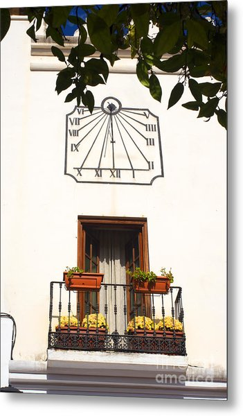 Spanish Sun Time Metal Print