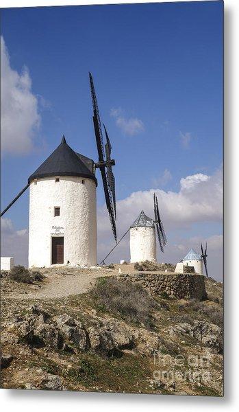 Spanish Windmills In The Province Of Toledo, Metal Print