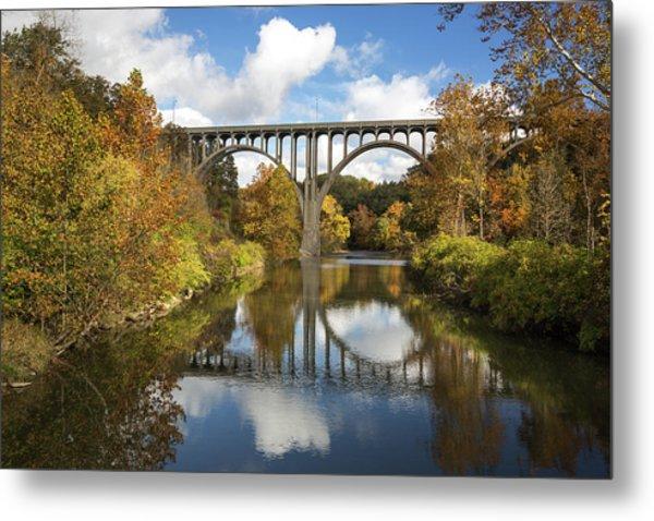 Spanning The Cuyahoga River Metal Print