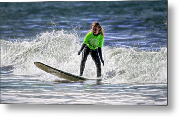Sparkle Surf Metal Print