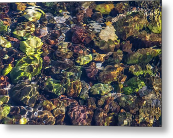 Sparkling Flowing Light Metal Print by Leland D Howard
