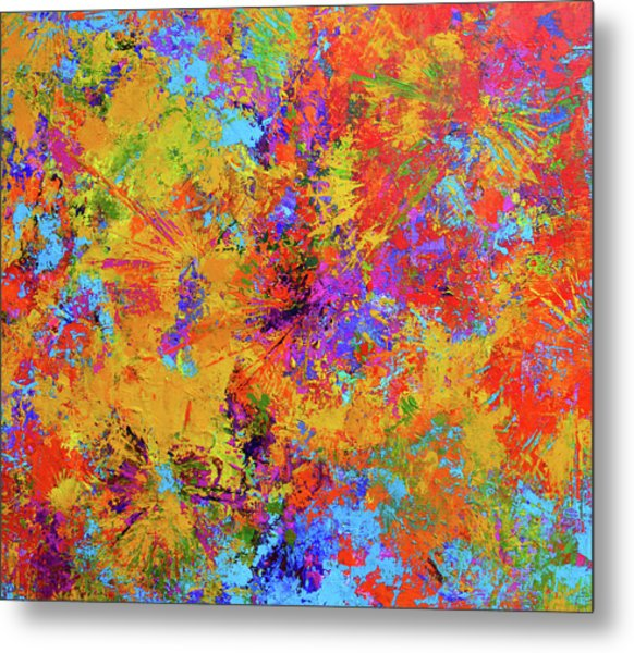 Sparks Of Consciousness Modern Abstract Painting Metal Print