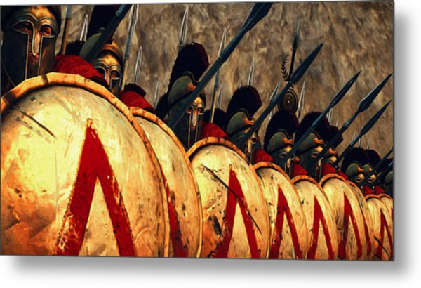 Spartan Army - Wall Of Spears Metal Print