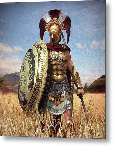 Spartan Hoplite - 02 Metal Print