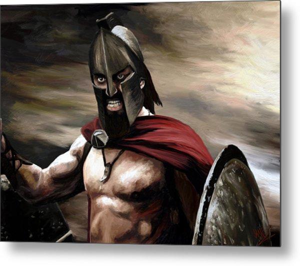 Spartan Metal Print