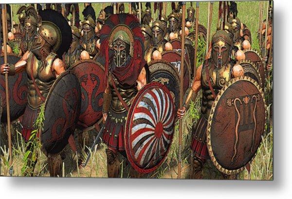 Spartan Warriors Before The Battle Metal Print