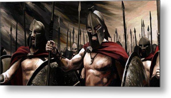 Spartans 300 Metal Print