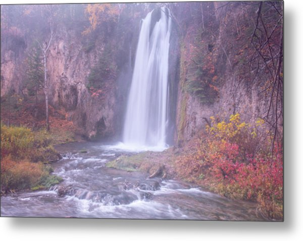 Metal Print featuring the photograph Spearfish Falls by Angela Moyer