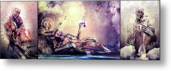 Special Edition Three In One Panel Love Set Metal Print by Cameron Gray
