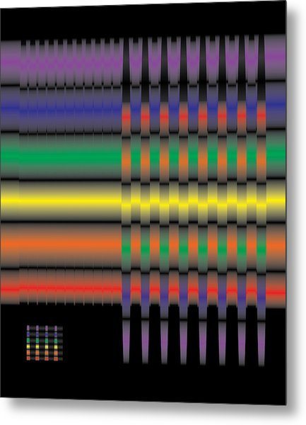 Spectral Integration Metal Print