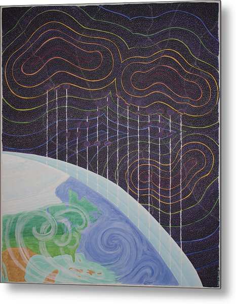 Spectrum Earth Spacescape Metal Print