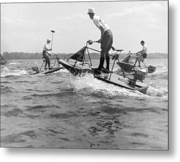 Speedboat Polo Enthusiasts Metal Print