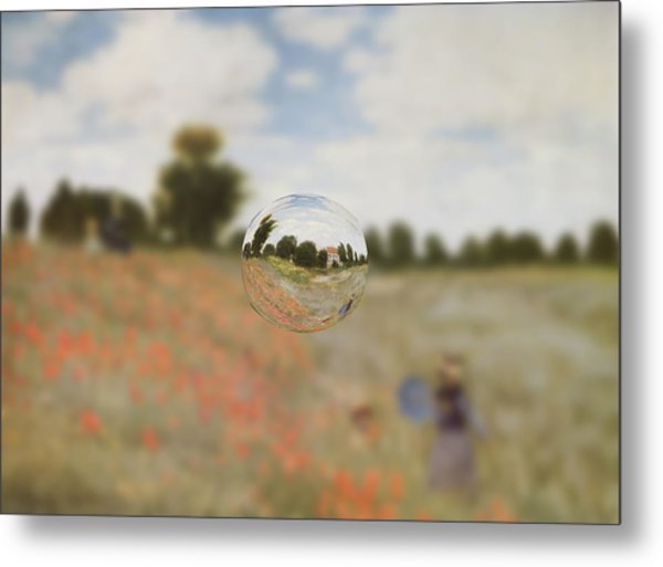 Sphere 9 Monet Metal Print