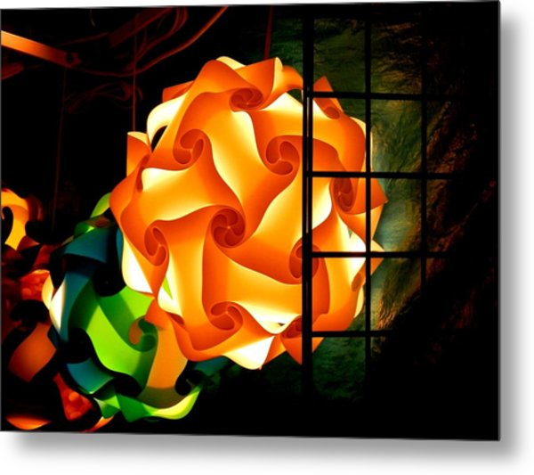 Spheres Of Light Electrified Metal Print
