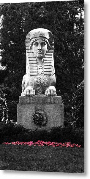 Sphinx In New England Metal Print by Brigid Nelson