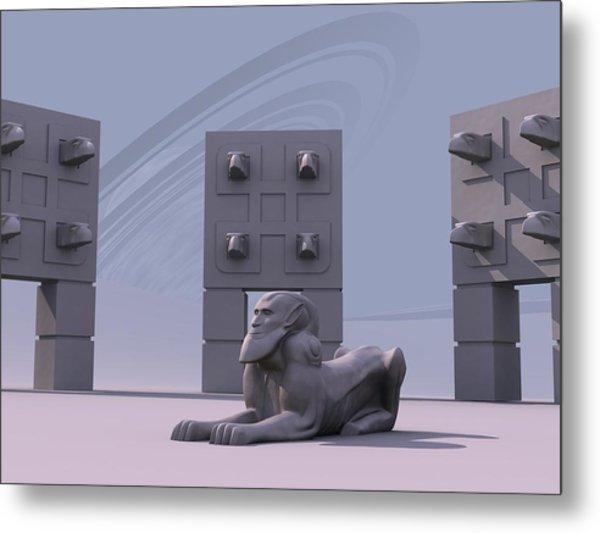 Sphinx Metal Print by Mariusz Loszakiewicz