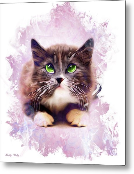 Spice Kitty Metal Print