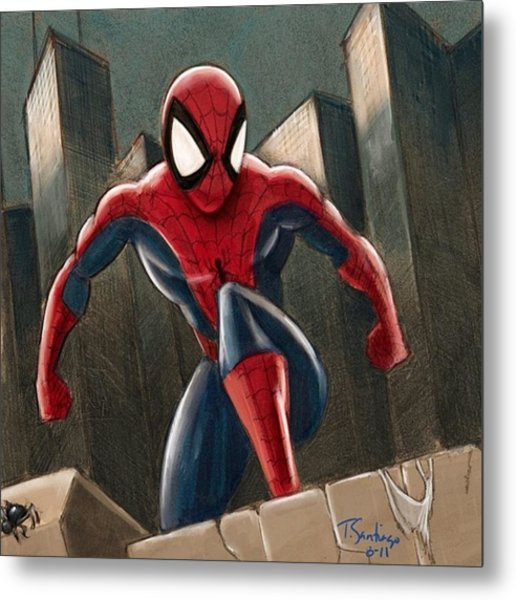 Spider-man Metal Print