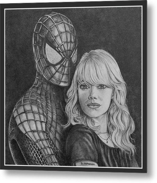 Spidey And Gwen Metal Print