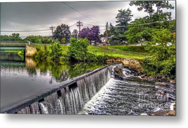 Spillway At Grace Lord Park, Boonton Nj Metal Print