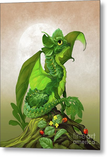 Spinach Dragon Metal Print