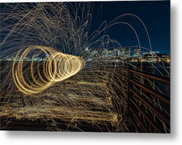 Spinning Sparks Metal Print