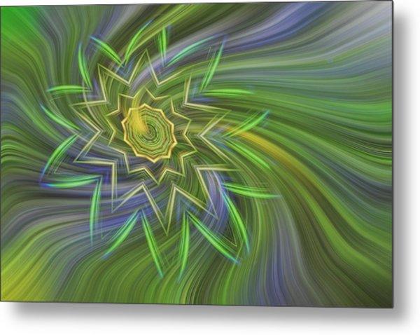 Spinning Star Metal Print by Linda Phelps