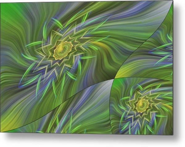 Spinning Star Tiles Metal Print by Linda Phelps