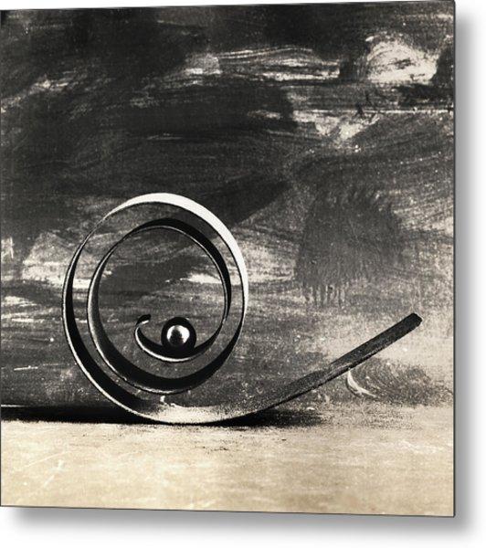 Spiral And Ball Metal Print