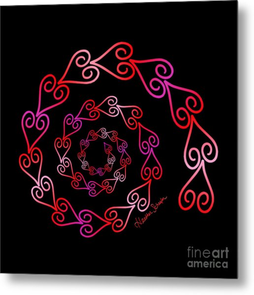 Spiral Of Hearts Metal Print