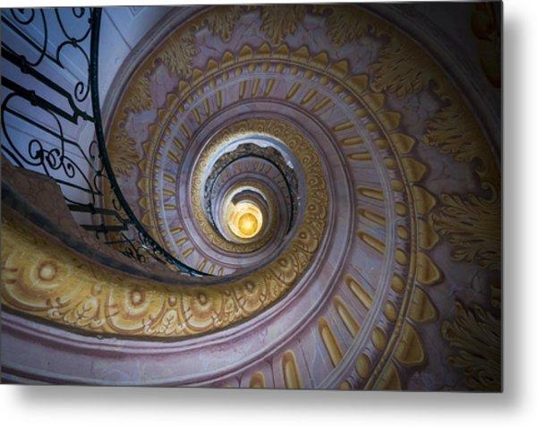 Spiral Staircase Melk Abbey IIi Metal Print