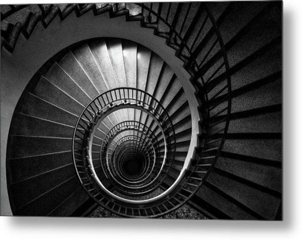 Spiral Staircase Metal Print