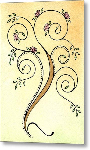 Spiral Tree Metal Print by Nora Blansett