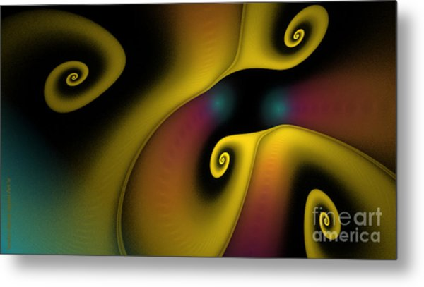 Spiralicious Metal Print by Sandra Bauser Digital Art