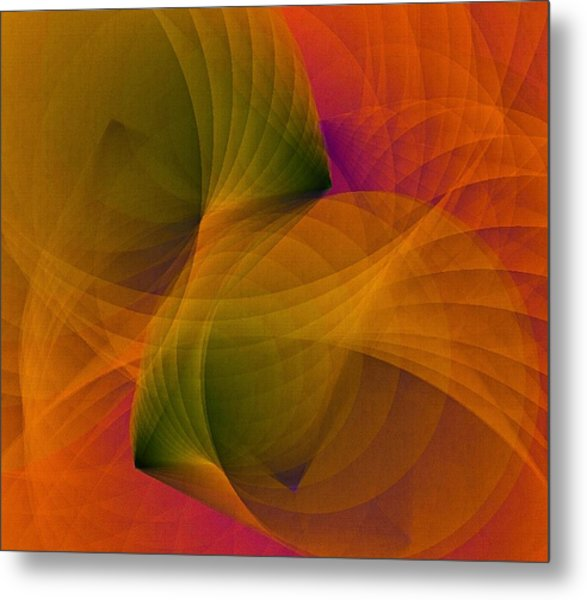 Metal Print featuring the digital art Spiraling Insight With Complicated Continuation by Susan Maxwell Schmidt