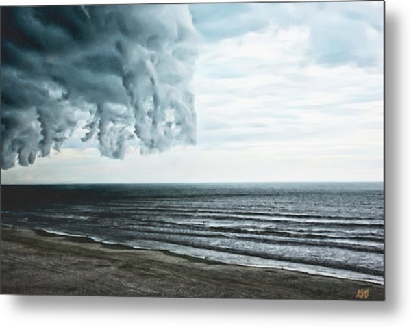 Spiraling Storm Clouds Over Daytona Beach, Florida Metal Print