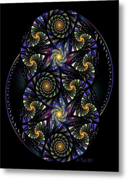 Spirals Of The Night Metal Print
