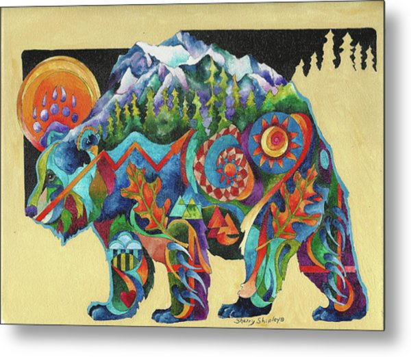 Spirit Bear Totem Metal Print