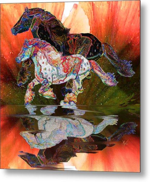 Spirit Horse II Leopard Gypsy Vanner Metal Print