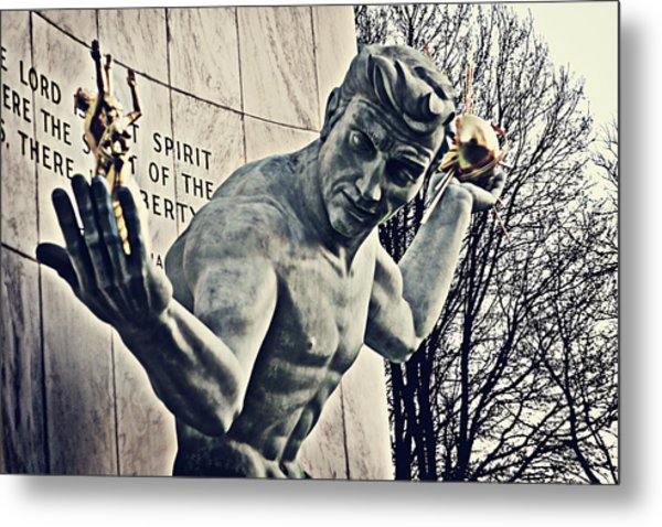 Spirit Of Detroit Metal Print