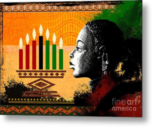 Spirit Of Kwanzaa Metal Print