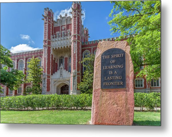 Spirit Of Learning Statue At The University Of Oklahoma  Metal Print
