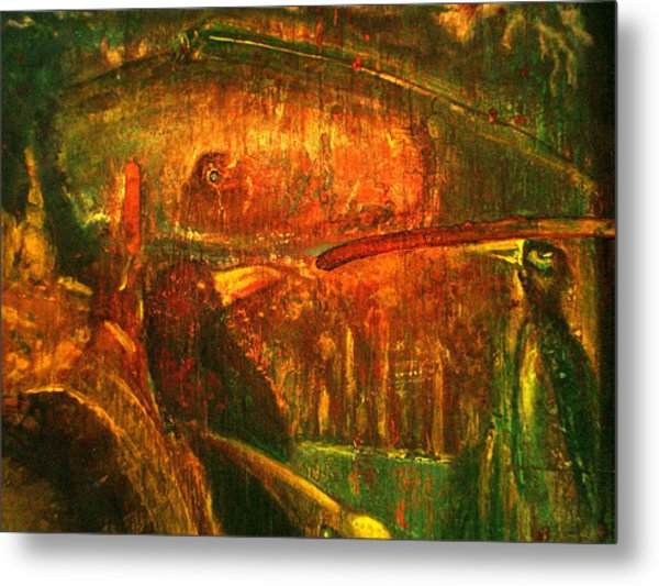Spirit Of The Jungle Whale Metal Print