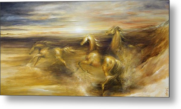 Spirit Of The Warrior Horse Metal Print