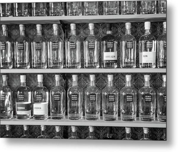 Spirit World Bottles Metal Print