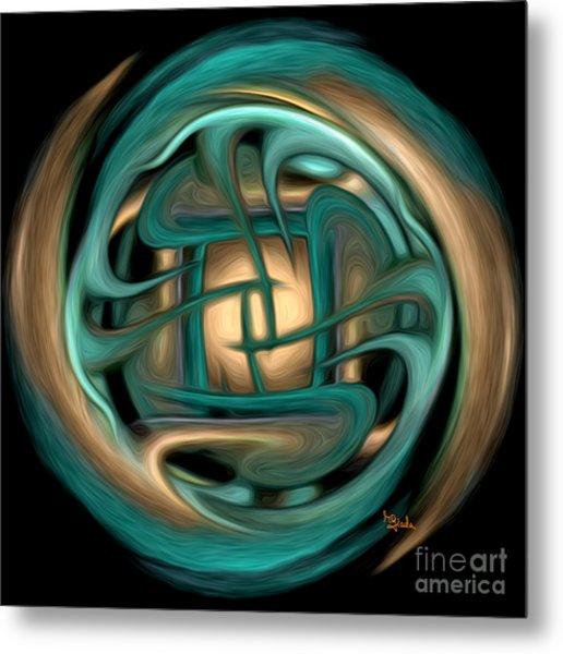 Spiritual Art - Healing Labyrinth By Rgiada Metal Print