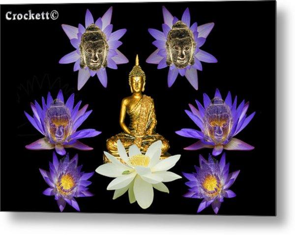 Spiritual Water Lilly Metal Print